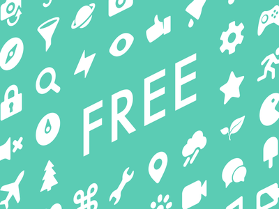 From today ICONY is free! vector ui iphone pictograms icony pack svg png web free font icons