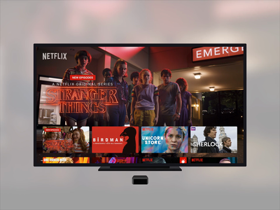 Netflix Apple TV Redesign