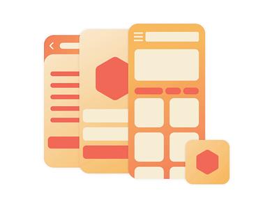 Illustration Mobile App Design app design mobile app gradient motiongraphics vector animation design illustration