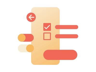 Illustration UI Design arrow button check box hoover interaction gradient color uidesign ui motiongraphics vector animation design illustration