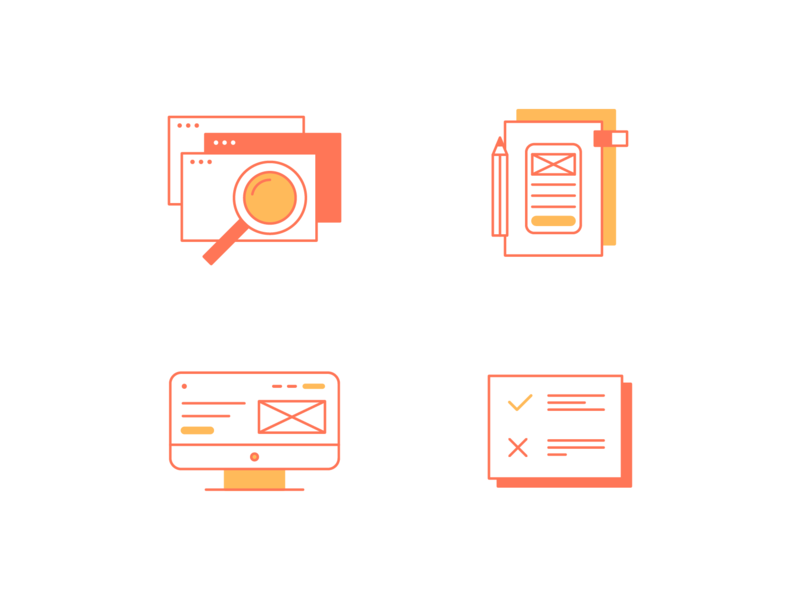 My way ui design vector icons icon icons set illustration