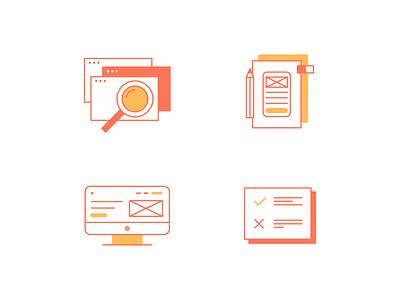 My way ui design vector icons icon icons set illustration