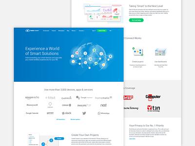 IoT platform marketing pages blue webdesigner ux ui responsivedesign webdesign productdesign iot iotplatform branding vector design illustration