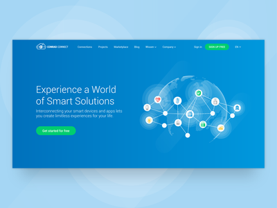 IoT platform marketing pages