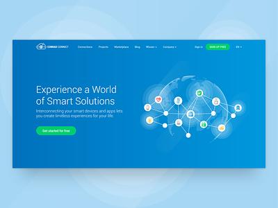 IoT platform marketing pages icon blue homepage hero heroimage responsivedesign webdesign productdesign platform iotplatform iot vector ux branding ui design illustration