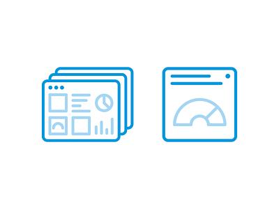 Dashboard + Widget iot ux ui design vector minimal illustrations icons icon illustration data visualisation data widgets widget dashboard