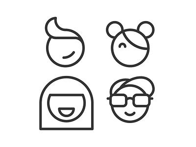 Team! people teams teamwork team icon set illustration icons vector