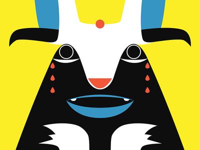 El Conejo Loco tears illustrator illustration yellow bunny