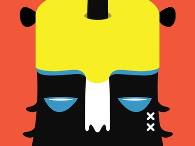 El Niño digital illustrator illustration monster x mouse red yellow blue black
