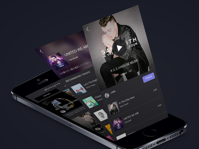 Music App Concept Work ui