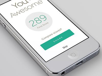 Flat UI Design flat design ui design game score social media social interaction ios iphone