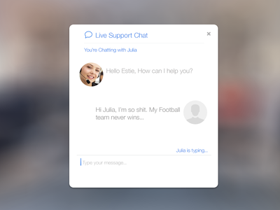 Live Support Chat support chat flat design ios 7