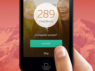 Game UI uidesign design score flat ios apple red green white typeface mobile design