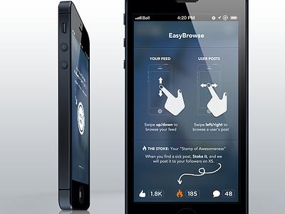 EasyBrowse flat design ios7 tutorial iphone typography visual design ui design