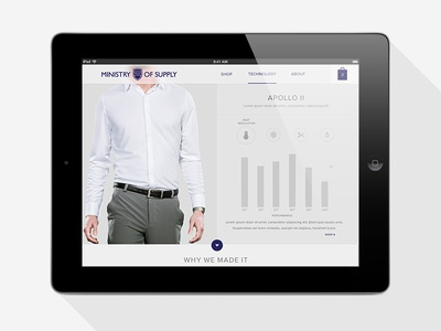 MOS Experiment web tablet ios7 flat design icon white grey ui