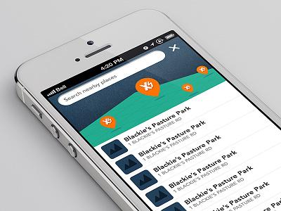 XS Geotag ui design geo tag flat design ios7 iphone app design branding