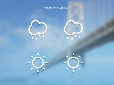 Weather App Icons icon design weather flat design ios7 iphone ui design shapes icon icons
