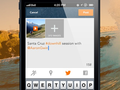 Upload Screen upload flat design ui design ux design app twitter ios 7 facebook post
