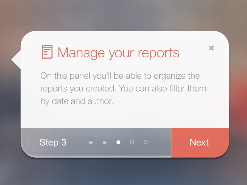 Manage Your Reports button admin white clean timeline progress ios7 flat design icons step popup