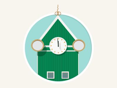 Clocktower icon illustrator illustration flat design visual design ui design