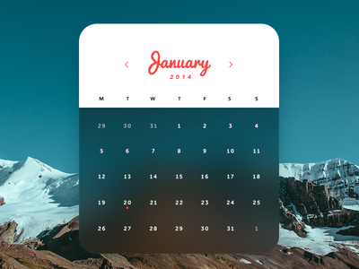 Calendar clean design calendar ui ux flat design ios7 interface design widget web design web minimal