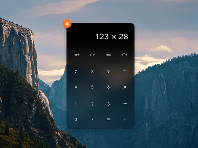 Yosemite Calculator Widget yosemite-redesign calculator ui design yosemite apple design minimal clean ux wwdc widget redesign