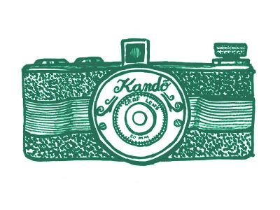 Kando Vintage Camera marker pen