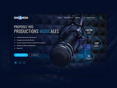 Send4Media animation adobe illustrator logo web adobe photoshop branding design ui interaction adobe xd