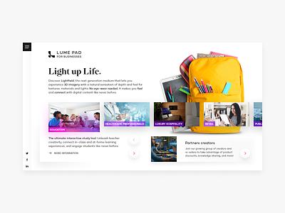 Landingpage product ux design adobe photoshop web interaction ui website adobe xd