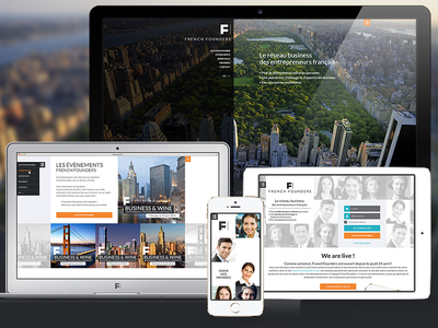 French Founder concept website