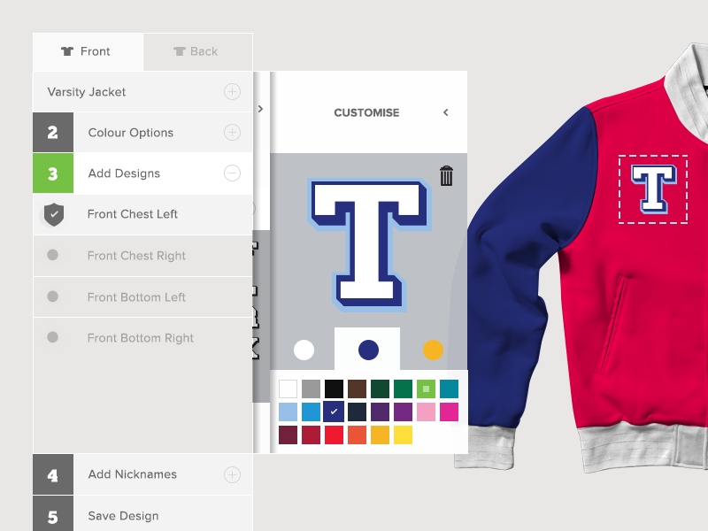 0d5eac9010c42c DYO Design Lab UI svg clothing customisation design your own dyo ui ux  colour picker letters