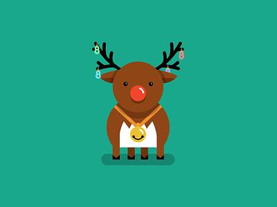 Super8 December 800x600 Dribbble illustration december christmas santa rudolph vector design inspiration articles blog super8