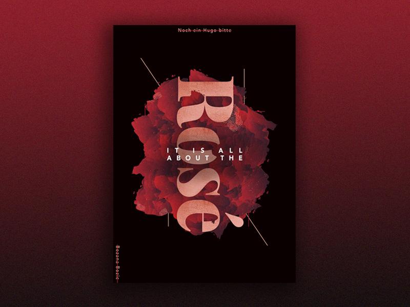 Types of Alcohol - Rose photoshop illustrator graphic design design poster print
