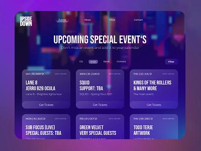 Concept of an event location website designtrends blur glassmorphism webdesign website event planning events event uxdesign ux uiux ui design ui uidesign design