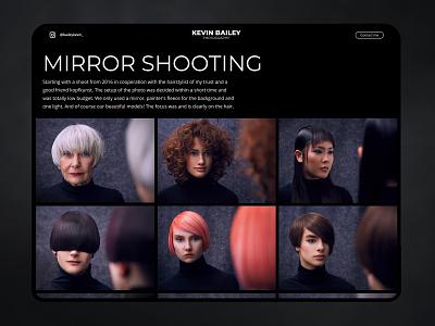 Concept of a photographer portfolio ui design uxdesign uidesign ux uiux ui mirror webdesign design website photograph photographer photography photo portfolio