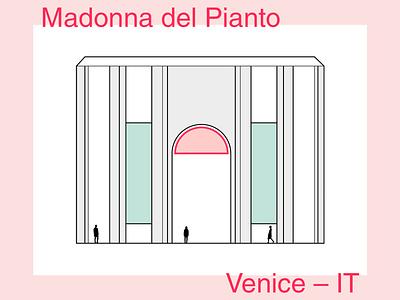 Madonna del Pianto – minimalist illustration minimalart minimal illustration illustrator drawing architecture architectural