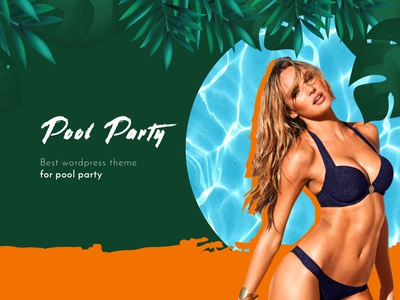 Pool Party - Landing Page tropical sexy party pool event summer poolparty