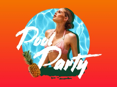 Pool Party - Landing Page tropical summer sexy poolparty pool party event
