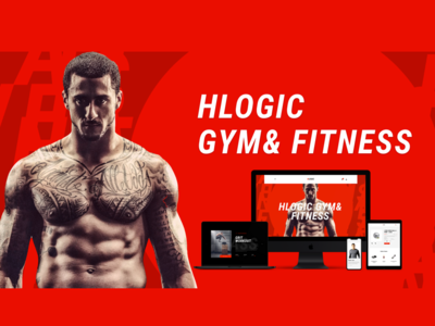Hlogic Gym& Fitness_Web Design ui ux webdeisgn red workout fitness gymnast gym