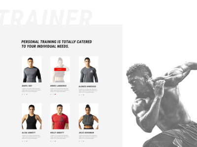 Hlogic Gym& Fitness_Web Design workout red gymnastics ux  ui webdesign fitness gymnast gym