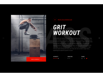 Hlogic Gym& Fitness_Web Design ui ux red webdesign workout fitness gymnastic gymnast gym