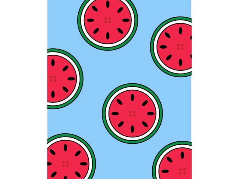 Watermelon wallpaper graphic adobe colour circle watermelon illustrator