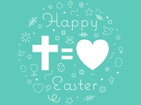 Happy Easter (Cross = Love)