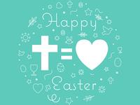 Happy Easter (Cross = Love)