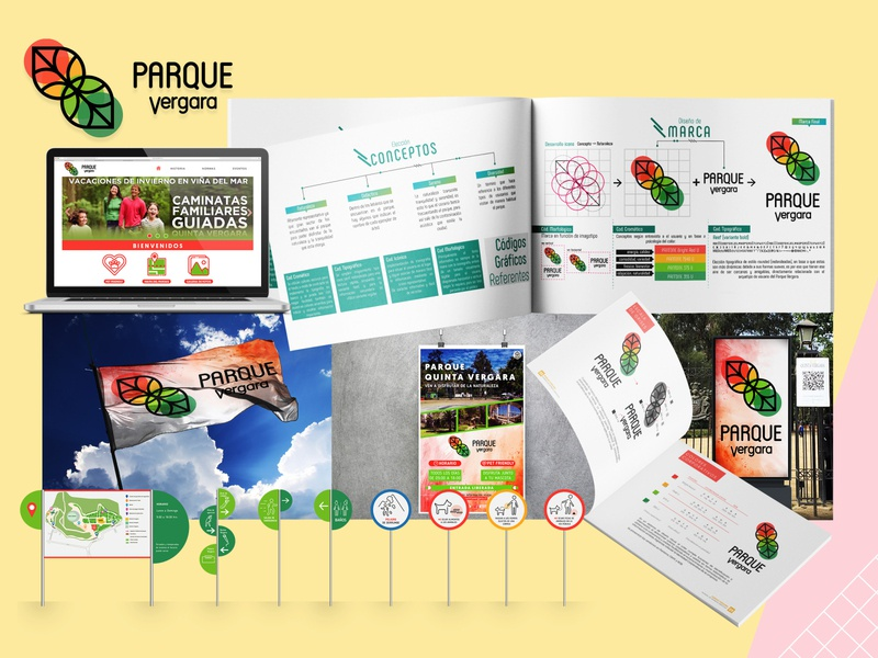 Proyecto Parque Vergara design logo branding