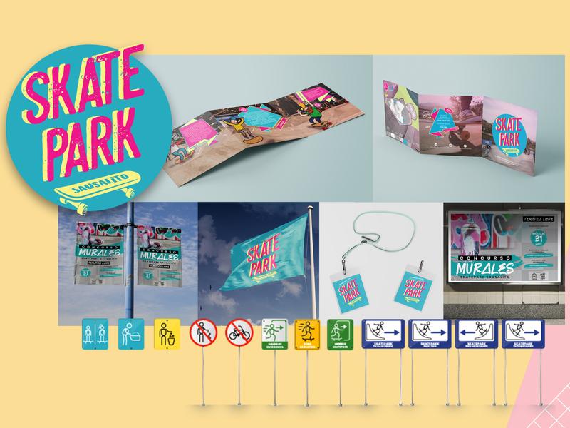 Proyecto Skatepark Viña design logo branding