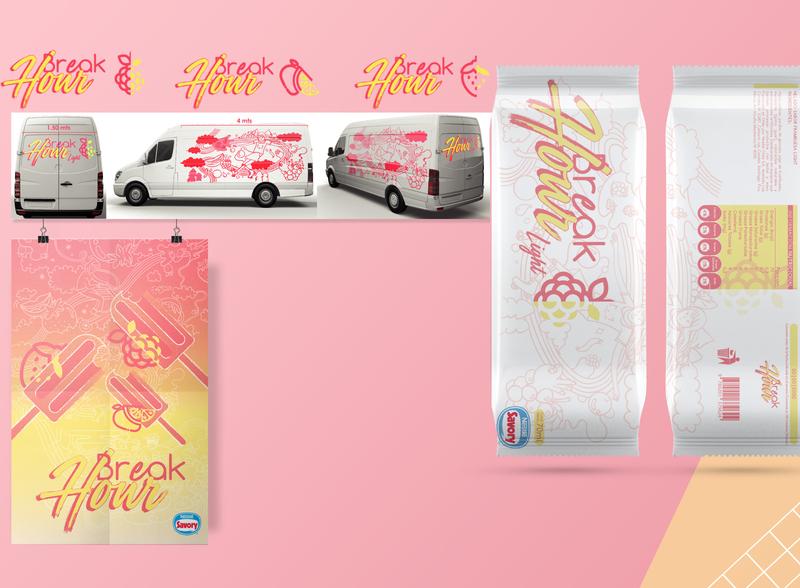 Proyecto Marca Helado logo design branding