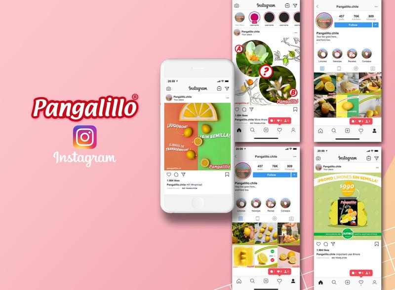 Diseño de contenido para RR.SS | Pangalillo socialmedia instagram post rr.ss design