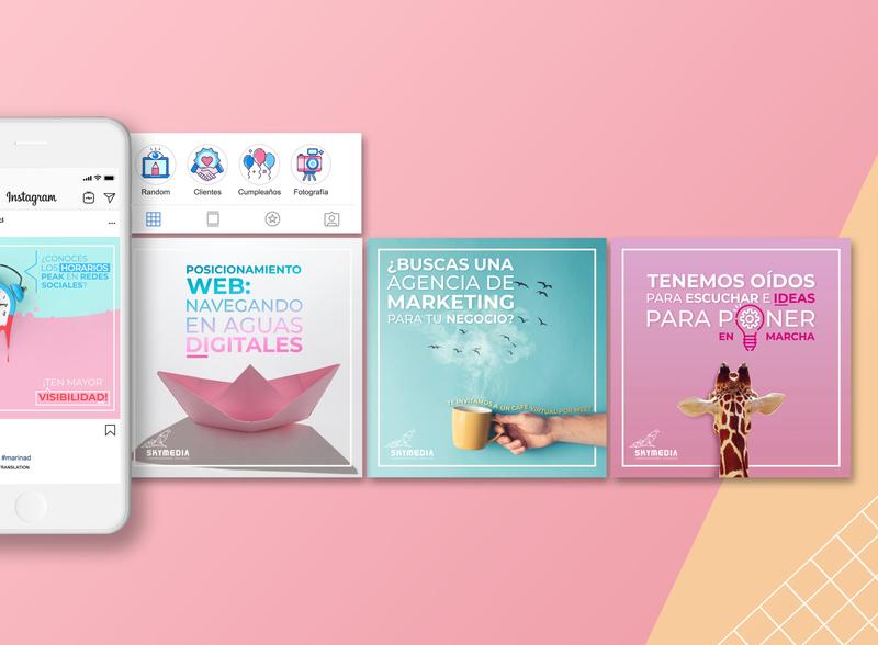 Diseño de contenido para RR.SS | Skymedia Agencia Publicidad socialmedia rr.ss instagram post design