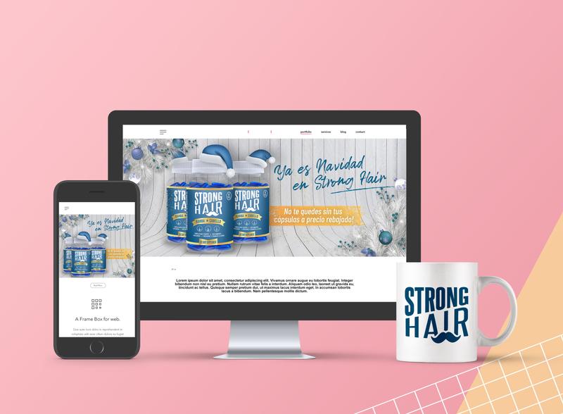 Banners Sitio Web con Motivo Navideño | StrongHair web banner design responsive design banners design
